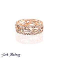 rose gold diamond filigree ring jackfriedman.co.za Filigree Ring, Vintage Rings, Beautiful Things, Silver Rings, Wedding Rings, Rose Gold, Engagement Rings, Diamond, Jewelry