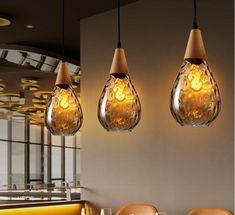 Glass Pendant Light, Glass Pendants, Pendant Lighting, Pendant Lamps, Vintage Lighting, Modern Lighting, Lighting Ideas, Deco Led, Luminaire Led