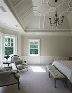 "Benjamin Moore Popular Paint Color. ""Revere Pewter"" Almost looks like an Antique Linen color. Love it!"