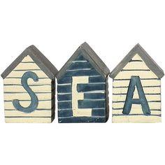 SEA beach huts - set of 3