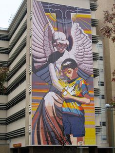 #street art Spirit of Healing Mural by Jesse Trevino,   Santa Rosa Children's Hospital