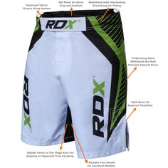 RDX new MMA Fight shorts are perhaps one of the best fight shorts in the market today. They are comfortable, very stylish, and durable. The MMA shorts are constructed from Directional stretch fabric, this extra flexibility
