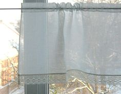 Curtain Burlap Curtains Lace Curtains Cafe Curtains by Initasworks