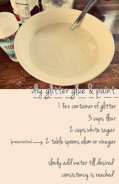 DIY Glitter Glue and Paint