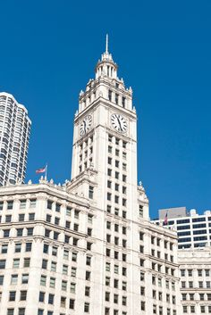 The Wrigley Building. Behind the Tour — Food and Architecture: 1893 Chicago Map, Chicago Hotels, Chicago River, Chicago Restaurants, Chicago Area, Chicago Architecture Foundation, Famous Buildings, My Kind Of Town, Building Facade