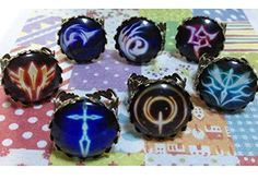 Onecos Fate Zero Logo Ring Cosplay (a Set of Seven) A -- For more information, visit image link.
