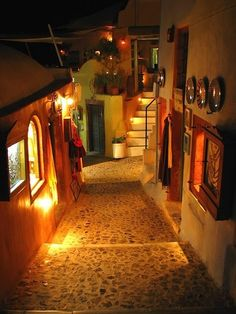 Ambient evening in Oia Greece Art & Architecture