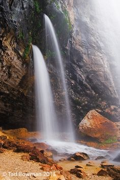 Spouting Rock near Hanging Lake, Glenwood Canyon Colorado River, Colorado | Tad Bowman