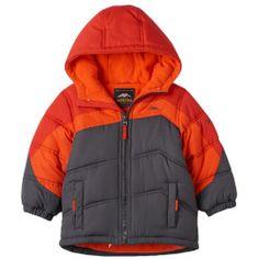 """2638580%3Fwid%3D800%26hei%3D800%26op_sharpen%3D1 Best Deal """"Toddler Boy Pacific Trail FleeceLined Heavyweight Colorblock Puffer Jacket"""
