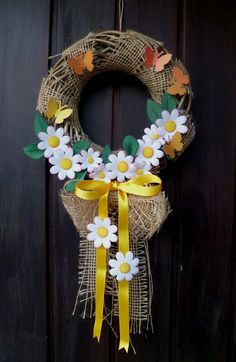 Easter Wreaths, Holiday Wreaths, Diy Wreath, Door Wreaths, Summer Wreath, 4th Of July Wreath, Wedding Wreaths, Spring Activities, Ribbon Crafts
