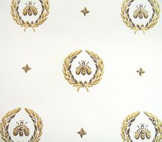 Napoleonic Bee Pattern Wallpaper. Royal Bee French Bee by pveris