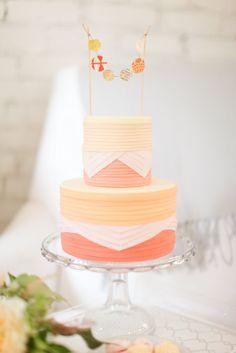 gorgeous cake #peach