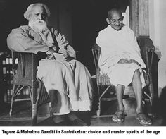 n 1901 Tagore moved to Santiniketan to found an ashram with a marble-floored prayer hall—The Mandir—an experimental school, groves of trees, gardens, a There his wife and two of his children died.Tagore and Gandhi Frases Mahatma Gandhi, Mahatma Gandhi Photos, Rabindranath Tagore, Rare Pictures, Rare Photos, Leonardo Boff, Subhas Chandra Bose, Photos Rares, Spirituality