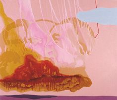 "Beer with a Painter: Carrie Moyer: Carrie Moyer, ""Meat Cloud"" (2001), acrylic, glitter on linen, 72 x 84 inches"