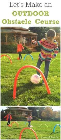 How to Make an Outdoor Obstacle Course -- this looks like fun!!