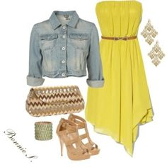 #summer #dress Not usually a big fan of yellow but I love this outfit!