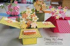 pop up box cards | making pop-up box cards.