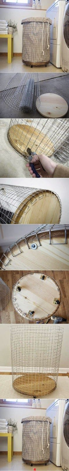DIY corbeille de linge !