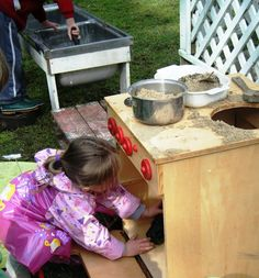 let the children play: creating a mud pie kitchen part 1