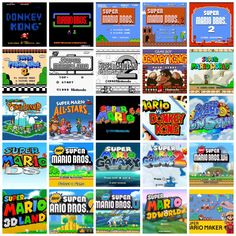 The History of Super Mario Platformers