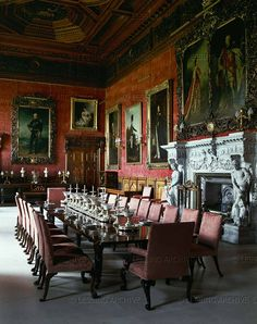 baroque interiors palaces 18th alnwick castle  Love that fireplace!