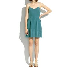 Madewell - Silk Bordershine Cami Dress