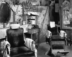 Walker Evans (November 3, 1903 – April 10, 1975):  American photographer and photojournalist:   Barber Shop, Atlanta, 1936