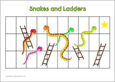 snakes and ladders instructions for kids