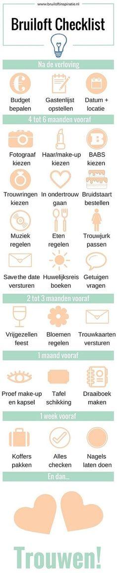 Bruiloft checklist: 25 onmisbare punten op de planning – Wedding For My Life Before Wedding, Wedding Prep, Wedding Goals, Budget Wedding, Wedding Tips, Wedding Planner, Wedding Details, Wedding Decor, Perfect Wedding