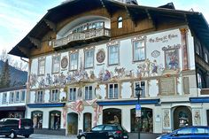 Oberammergau in Germany ~ this was an extremely neat town