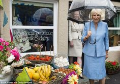 The visit also involved a trip to the village shop to see the local produce on display