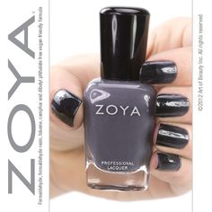 Nail art from the Junior Zoya Fairy! Gradient look featuring Zoya Nail Polish in Kelly (base) and Zoya Raven! Nail Polish Style, Purple Nail Polish, Zoya Nail Polish, Heart Nails, Black Nails, Black And Grey, Gray, Raven, Nail Colors