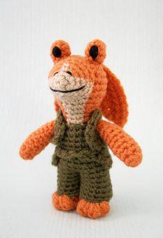 Jar Jar Binks Star Wars Mini Amigurumi Pattern PDF Crochet