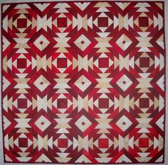 Trash to Treasure Pineapple Quilt - Red & White