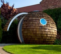 backyard office theres something about the round shape of the archipod that makes me want to wrap my arms around it when i see it big garden office ian