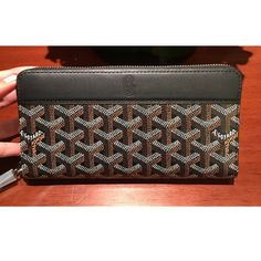 Goyard mens long wallet zip black GOYARD - BUYMA