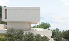 Piscina de una casa de estilo minimalista