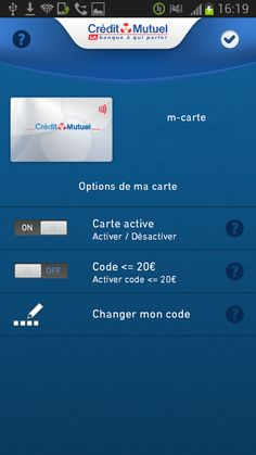 NFC wallet from Credit Mutuel, France