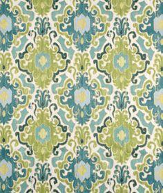 Swavelle / Mill Creek Toroli Aqua Fabric | onlinefabricstore.net