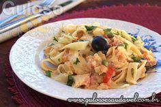 Fettuccine com Bacalhau » Massas, Peixes e Frutos do Mar