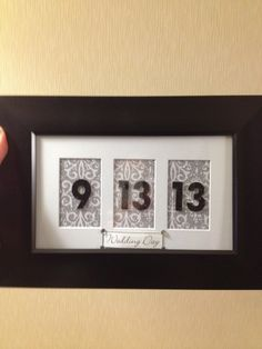 Bridal shower gift displaying wedding date