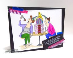 Art Impressions Rubber Stamps: Ai Girlfriends: AICS28 - Chocolate Therapy Clear Stamps ... handmade birthday card.