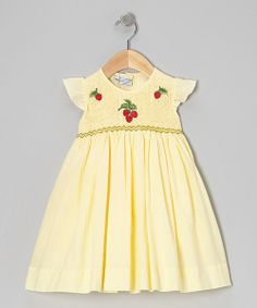 Take a look at the Yellow Strawberry Dress - Girls on #zulily today!