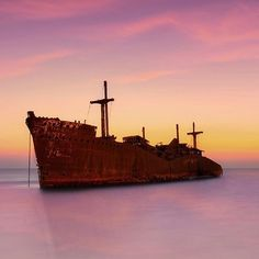 The Greek Ship is the nickname of a cargo steamship, Khoula F, that has been beached on the southwest coast of Kish Island, Iran, since 1966.  #kish #mustseeiran #greekship #iran