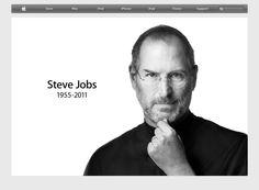 Apple's Website the night Steve Jobs passed away.