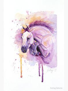 'Jumper' Sticker by KelleyDakota Watercolor Horse, Watercolor Paintings, Framed Prints, Canvas Prints, Art Prints, Horse Art, Decorative Throw Pillows, Horses, Stickers