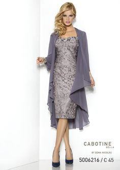 Cabotine Bella Mother of the Bride Outfit 5006216 - Lace Dress & Floaty Jacket