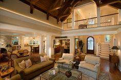 balcony overlooking family room