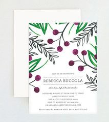 Painted Floral Shower Invitation