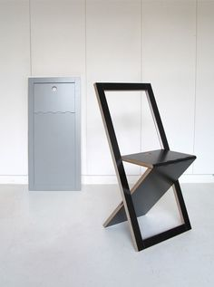 Cool Design...The VM Chair looks like a simple wooden plank when folded.